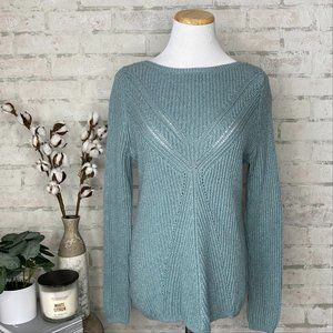 Maurices   Blue Turquoise Knit Sweater